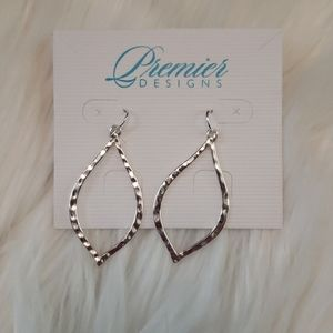 Premier Designs Silver Essence Earrings NWT